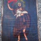Brazilian Painting of Saint John The Baptist  43 x 33  Vintage Sacred Art