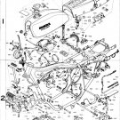 1975 1976 HONDA CB400F SS XRAY PARTS SPECIFICATIONS