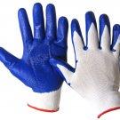 WWSW111WB-M Dozen - Blue/White Nitrile Coated Work Gloves Medium