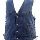 HHSW125-3X - Denim Vest with Laces