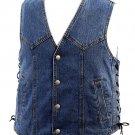 HHSW125-LG - Denim Vest with Laces