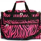 "SWDSI1039 - 16"" Pink with Black Zebra Print travel Bag"