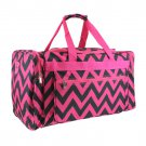 SWDSI1204 BLACK AND PINK 22 IN CHEVRON DUFFLE