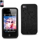 SWDSI1108 - Black Silicone Case with Castle Design Iphone 4S