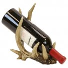 "SWEDLY13013 - 11"" Deer Antler Wine Bottle Holder"