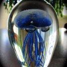 """4"""" Glowing Blue Glass Jellyfish  SWEDJellyBlue45"""