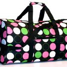 """20"""" Black With Pink, Green And White Dots Duffle Bag  SWDSI1019"""