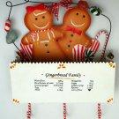 Metal Gingerbread in Box Wall Pocket with 3 Hooks  - SWIWG   0197-241416