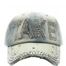 SWRUBJKH62704DRDBLU - GRAY MESSAGE TAKE  HAT AND CAP
