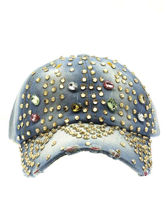 SWRUBNLH2242BLUMLT - MULTICOLOR BUCKLE FABRIC  HAT AND CAP