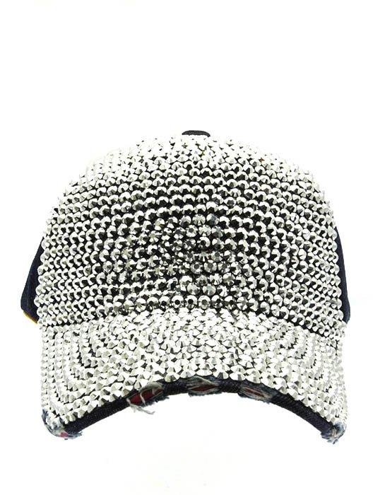 SWRUBNLH2272RDBUA - BLUE LUCITE STONE BUCKLE  HAT AND CAP