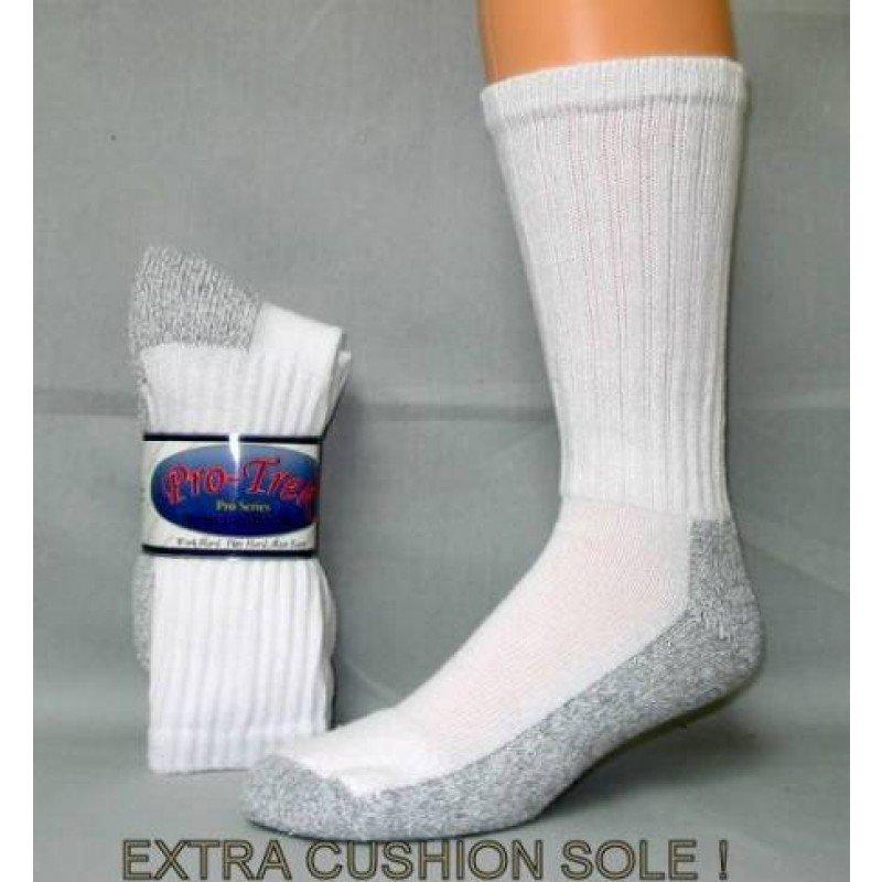 1 DOZEN SIZE 9-11 PROTREK HD STEEL TOE GRAY BOTTOM BOOT SOCKS. SWALSKC9STEEL