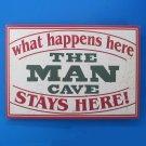 "16"" Wooden Man Cave Sign Decor  SWEDMC924"