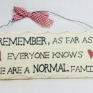 """10"""" x 4"""" Wooden Sign Decor - Normal Family - SWEDWP343"""