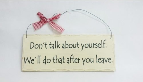 """10"""" x 4"""" Wooden Sign Decor - Talk About - SWEDWP330"""