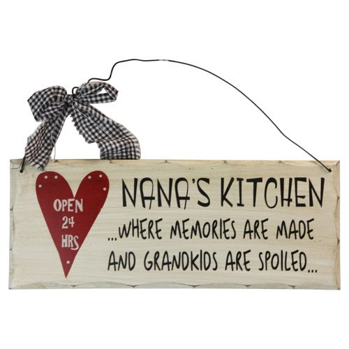 """10""""x4 Wooden Sign Decor - Nana's Kitchen - SWEDWP301"""