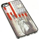 IPHONE 5/5S CASE AMERICAN FLAG - SWRUBKHA99001MLT