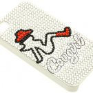 IPHONE 4S COVER GLASS BEAD COWGIRL - SWRUBDGA99041NORG