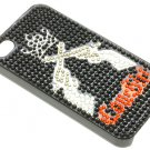 IPHONE 4S COVER GLASS BEAD GUNS COWGIRL - SWRUBDGA99033BLK
