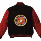 SZ SMALL Rothco MA-1 Suede Flight Jacket - Red Marines  9595