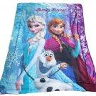 "42"" x 54 Frozen Bicolor Fleece Crib Blanket  SWEDFrozenBicolorSherpa"