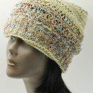 SWRUBDAH20258BEG - CROCHETED WINTER BEANIE HAT AND CAP
