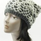 SWRUBDAH20440GRY - CROCHETED LAYER WINTER BEANIE HAT AND CAP