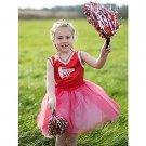SZ Medium Red Cheerleader Girl's Costume - SWWHC-CE37975