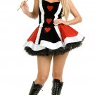 SZ LARGE NAUGHTY QUEEN OF HEARTS COSTUME - SWYAN-CHC-02204