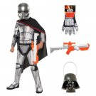 SZ Small - Complete Super Deluxe Captain Phasma Kids Costume - SWOFSTW-GR99620092