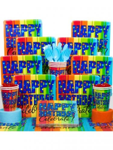 A Year to Celebrate 100th Birthday Deluxe Tableware Kit - SWWPS-BBKIT137