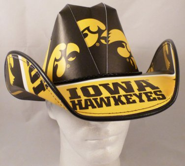 Iowa Hawkeyes Cowboy Hat Made Of Officially Licensed Materials   SW-ETSBBH