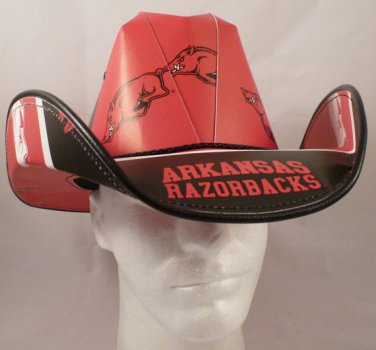 Arkansas Razorbacks University Cowboys  Cowboy Hat Made Of Officially Licensed Materials   SW-ETSBBH