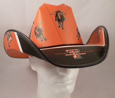 Texas Tech Red Raiders  Cowboy Hat Made Of Officially Licensed Materials   SW-ETSBBH