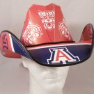 Arizona Wildcats Cowboy Hat Made Of Officially Licensed Materials   SW-ETSBBH