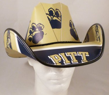 Pitt Panthers Cowboy Hat Made Of Officially Licensed Materials   SW-ETSBBH