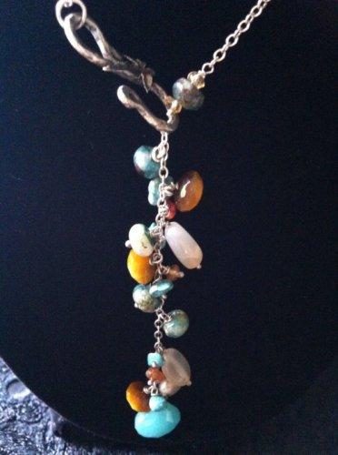 Multi-Stone Dangle Necklace