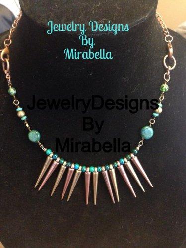 Metal & Jade Necklace