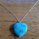 Sterling Silver and Turquoise Heart Necklace