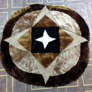New design Natural sheep skin rug,patch work rug, round rug,area carpet free shipping