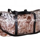 Cowhide leather Duffle bag by Ruby Leather with Free shipping