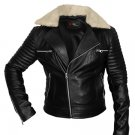 Women lamb leather biker with fur collar, Biker jacket ,  Motor biker jacket by Ruby Leather