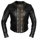 Women lamb leather Jacket , biker Jacket  , Motor bike jacket by Ruby Leather