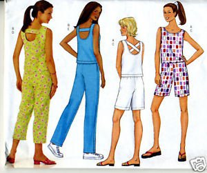 SEMI FITTED PULLOVER TOP AND PANTS/SHORTS- BUTTERICK 3154- SIZE 18-20-22