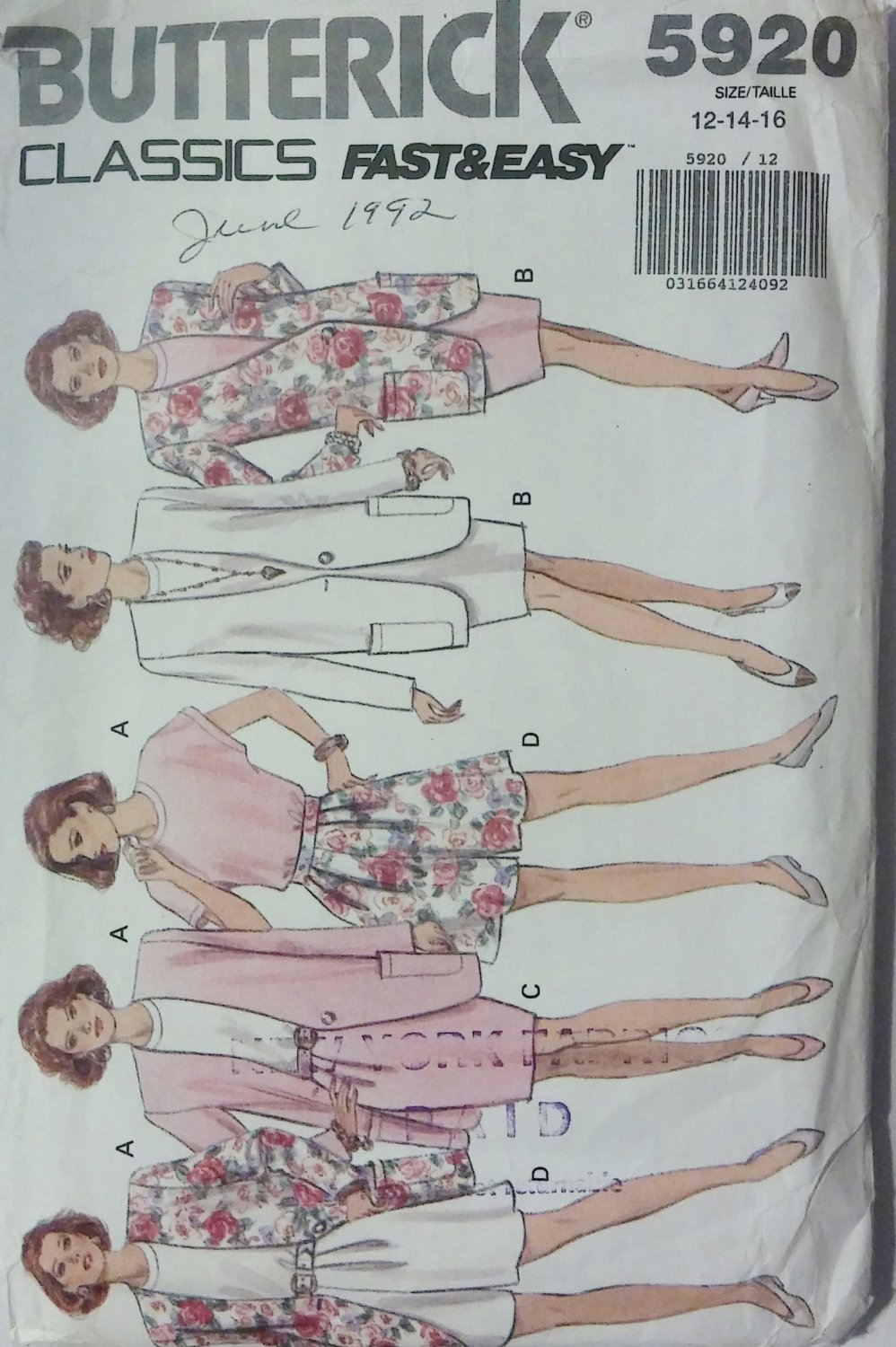 Misses/Misses Petite Jacket, Dress, Top, Skirt & Shorts; Sizes 12-16 Rated Very Easy