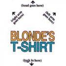 blonde's tshirt