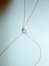 14K Gold and Genuine Diamond Love Symbol Body Necklace Jewelry for Women