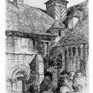 "Samuel Chamberlain "" Wenlock Abbey"" Etching"