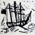Lyonel Feininger - Dreimaster Mit Flagge - Ltd Edition Wood Cut
