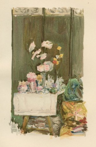 Child Hassam - A Favorite Corner - 1894 Chromolithograph
